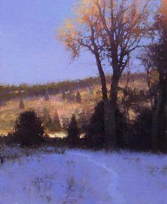 """Winter Path"" 11x14. Oil on linen. Palette knife. Brent Cotton. $2,400"