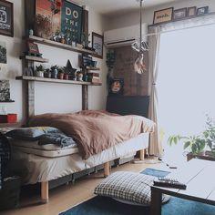 Bedroom/観葉植物/無印良品/ダイソー/ポスター/ベッド...などのインテリア実例 - 2016-03-23 04:07:49