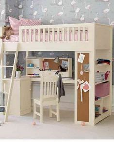 Loft+Beds+For+Teens+Girls | ... Wallpaper Murals and Bunk Beds with Stairs in Teenage Girls Bedrooms
