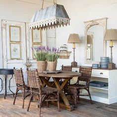 Rustic French Country Dining Room