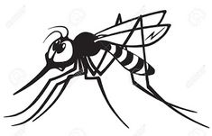 Illustration of cartoon mosquito gnat .Black and white image vector art, clipart and stock vectors. Cartoon Mosquito, Kingdom Come, How To Get Warm, White Image, Stick It Out, Illustrations, How To Fall Asleep, Vector Art, Illustration