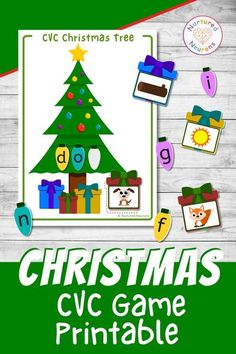 Want a fun and festive way for you children to practice their phonics skills? Then loo no further than this printable CVC Christmas tree. This activity is a great way for your kids to practice their segmenting, sounding out and blending skills! Grab it over at Nurtured Neurons! #preschoolchristmas #christmasprintables #christmaslearning #phonicsprintables #phonicsgames Preschool Christmas Activities, Printable Activities For Kids, Free Preschool, Free Printables, Phonics Lessons, Phonics Activities, Kindergarten Activities, Light Letters, Neurons