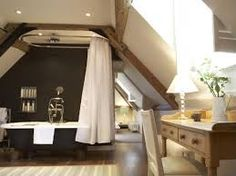 babington House - Attic bathroom. Stayed here and it was lovely. Great idea for my barn