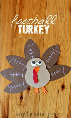 Football Turkey Craft #Thanksgiving craft for kids | CraftyMorning.com