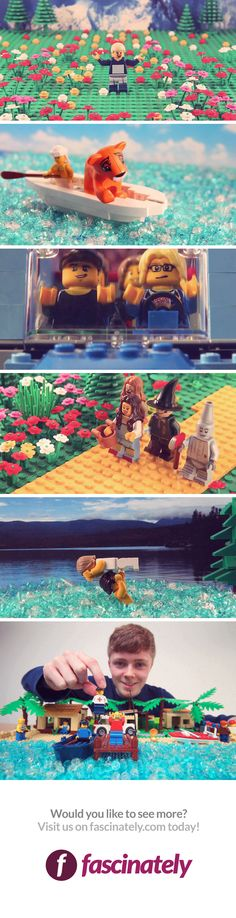 In a collaboration with Lego author Warren Elsmore, the English lad has recreated some of film history's most iconic moments in a short animated video.
