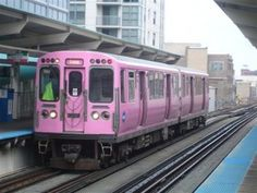Chicago Transit Authority's Pink Line Train