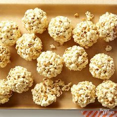 Ah, the popcorn ball. Three steps, basic ingredients, and some literal hands-on fun are at the heart of these classic treats that go just as well at a party as at low-key streaming-movie night. Now pop to it!