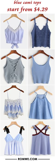 blue cami tops from $4.29