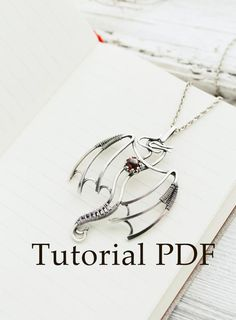 Silversmith necklace tutorial – Silver Dragon pendant – Silver soldering – PDF file – cabochon setti - diy jewelry To Sell Ideen Bijoux Wire Wrap, Wire Wrapped Jewelry, Metal Jewelry, Beaded Jewelry, Silver Jewelry, Silver Ring, Jewlery, Silver Earrings, Diy Wire Wrapping Jewelry