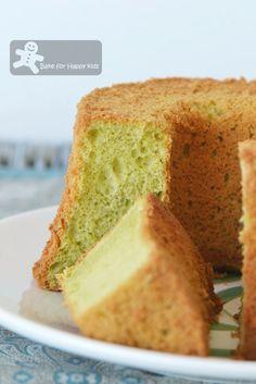 pandan chiffon cake - using cook dough pandan chiffon cake