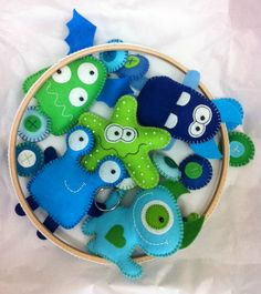 Baby Mobile  Little Monster MADE to ORDER by PrincessAllipops, £36.50