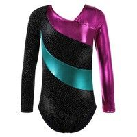 Wish | Sparkle Top Long Sleeve Ballet Gymnastics Leotard for 2-16 Y Kid Girls