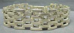 shopgoodwill.com: 7�� Sterling Silver Wide Bracelet (51.3g)
