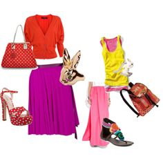 pink and red for spring..