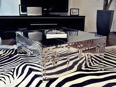 CT3232 [SQUARE_Chrome_Coffee_Table] - $799.00 : Biltmore Trunk | Trunk Chest | Storage Trunk | Custom Trunks