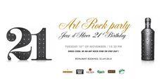 "- 21 ans ""Art Rock Party"" - back Design: C. Rock, Coding, Restaurant, Birthday, Design, Winter Games, Gaming, Birthdays, Locks"