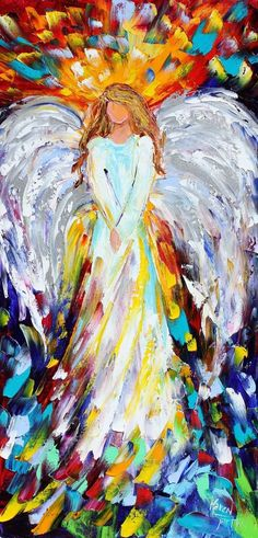 Beautiful angel painting