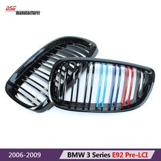 m emblem tri color sporty style abs car bumper racing grill for bmw and  2006 2009 3 series 2 door pre lci a73e1c7de