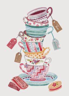 Pellmell Créations: Le petit thé illustré