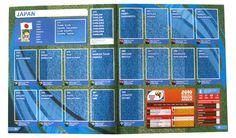 Panini Checkliste WM 2010 Japan ohne Sticker