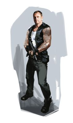 20690 - Left 4 Dead: Concept art for Francis, a biker caught up in the zombie apocalypse.