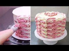 Buttercream Cake Decorating/Decorar con manga pastelera *Cakes Step by Step – Cakes and cake recipes Cake Recipe For Decorating, Buttercream Cake Decorating, Cake Decorating For Beginners, Buttercream Recipe, Cake Decorating Techniques, Cake Decorating Tutorials, Frosting Recipes, Cookie Decorating, Cake Recipes