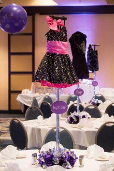 Bat Mitzvah Dance Costume Centerpieces at Hilton Washington DC North/Gaithersburg | Pop Color Events | Adding a Pop of Color to Bar & Bat Mitzvahs in DC, MD & VA