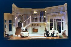 Hay Fever. Haymarket Theatre Company. Scenic design by Elroy Ashmore. 2004
