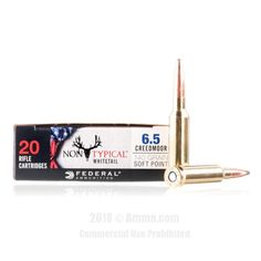 Federal Non-Typical Whitetail 6.5 Creedmoor Ammo - 200 Rounds of 140 Grain SP Ammunition