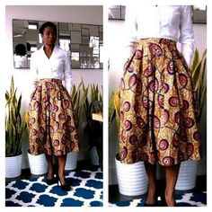 Hey, I found this really awesome Etsy listing at https://www.etsy.com/listing/177366443/african-print-midi-skirt