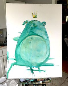 I kinda like the idea of just leaving this fellow as is a bit... Art watercolor acrylic doodle art painting artistsoftumblr watercolor