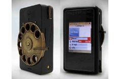 Steampunk Mechanical Rotary Smartphone