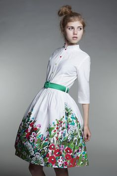 Petticoatkleider - Custom Made Garden Party Dress - ein Designerstück von mrspomeranz bei DaWanda