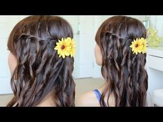 Waterfall Braid Hairstyle On Yourself | Hair Tutorial - YouTubeBraid Hairstyles, Braids, braids tutorial, braids for short hair, braids for short hair tutorial, braids for long hair, braids for long hair tutorials...