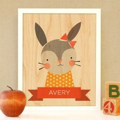 Framed Bunny @Petit Collage