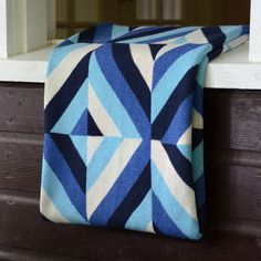 Image of Eco-Throw: Patchwork Blues
