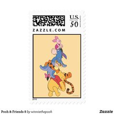 Shop Pooh & Friends 8 Postage created by winniethepooh. Personalize it with photos & text or purchase as is! Create Your Own Poster, Disney Merchandise, Disney Style, Postage Stamps, Winnie The Pooh, Birthday Cards, Best Gifts, Friends, Paper