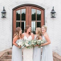 That girlfriend giggle in Cloud Amsale Bridesmaid, Bridesmaid Dresses, Wedding Dresses, Bridesmaids, Blue Wedding, Wedding Colors, Vow To Be Chic, Who What Wear, Shower Gifts