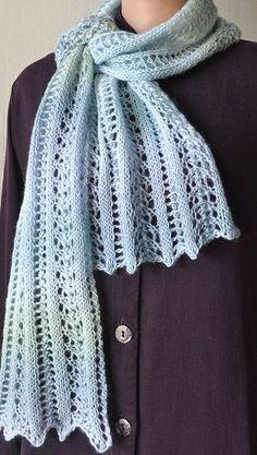 Knitting Patterns Galore - Mini Mochi Easy Lace Scarf