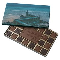 Old Breakwater Montevideo Uruguay 45 Piece Box Of Chocolates - beautiful gift idea present diy cyo