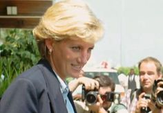 January 16, 1997: Diana, Princess of Wales at Luanda airport in Angola following her visit to the country on behalf of the Red Cross. 1997 Angola
