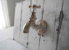 french country tap hook wall hook towel hook faucet bath decor rustic hook aged country look bathroom decor cottage chic shabby decor by ShabbyRoad on Etsy