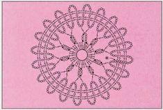 Crochet Motif Patterns, Crochet Chart, Lace Patterns, Crochet Squares, Thread Crochet, Knit Or Crochet, Irish Crochet, Crochet Stitches, Crochet Tops