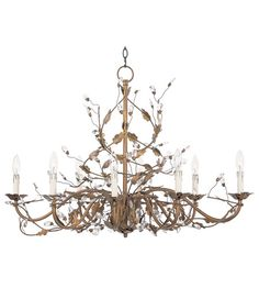 Maxim Lighting Elegante 8 Light Chandelier in Etruscan Gold 2860EG photo
