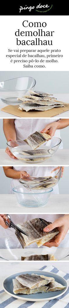 Saiba como demolhar o bacalhau da melhor forma.
