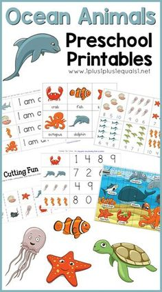 Ocean Theme Printables & More - 1 Plus 1 Plus 1 Equals 1