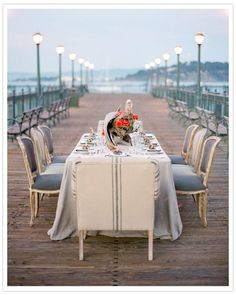 elegant, nautical table setting