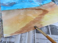 Art Lesson: Easy Watercolor Landscape Tutorial