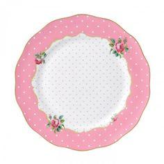 Cheeky Pink Vintage Dinner Plate