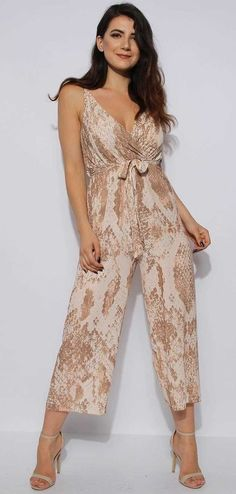 cf4c8dc5613a Cami Snakeskin Culotte Jumpsuit - fun and unique - Cami Snakeskin Culotte  Jumpsuit Adjustable Cami Straps